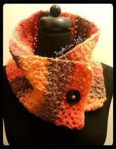 One button crochet scarf/neckwarmer