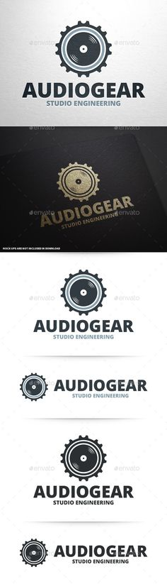 Audio Gear Logo Template — Vector EPS #recording #round • Available here → https://graphicriver.net/item/audio-gear-logo-template/10148120?ref=pxcr
