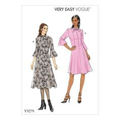 Vogue Patterns Sewing Pattern Misses'/Misses' Petite Princess Seam Dress with Flounce Sleeves Dress Sewing Patterns, Vintage Sewing Patterns, Clothing Patterns, Pattern Sewing, Dress For Petite Women, Petite Dresses, Vogue Patterns, Miss Dress, Princess Seam