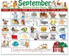 "Did you know that there is a holiday for everyday of the year. Nothing big, but they are fun little things to ""celebrate"". Here is a calendar of all the months. List Of National Days, National Holidays, Silly Holidays, Holidays And Events, Obscure Holidays, Unusual Holidays, Random Holidays, National Holiday Calendar, September Holidays"