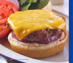Cheeseburger PER SERVING: 368 cals 15 g fat 81 mg cholesterol 795 mg sodium, 30 g carbohydrate 4 g fiber 29 g protein