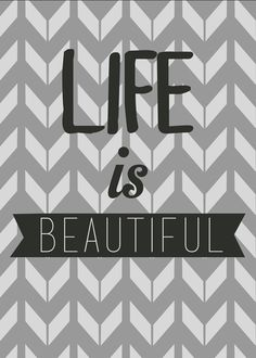 Life Is Beautiful Quote Art Print from Artifax