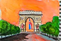 Arco del Trionfo Parigi 14 luglio 2016