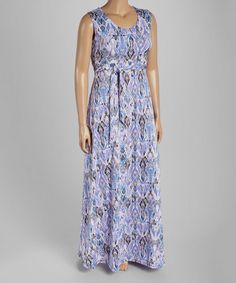 Another great find on #zulily! Pink & Lavender Abstract Maxi Dress - Plus #zulilyfinds