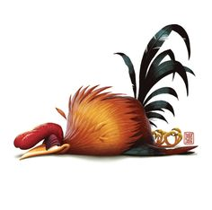 25 Funny Digital Art works and Digital illustration by Denis Zilber Chicken Painting, Chicken Art, Chicken Humor, Game Design, Denis Zilber, Free Printable Artwork, Rooster Illustration, Character Art, Character Design