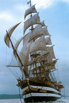 One of the beautiful Tall Ships which come to our area each summer. They are beautiful !