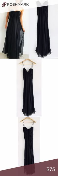 Spotted while shopping on Poshmark: Elie Tahari Silk Strapless Black Gown! #poshmark #fashion #shopping #style #Elie Tahari #Dresses & Skirts