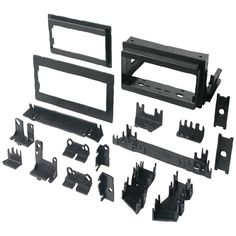 """Best Kits In-dash Installation Kit (gm Universal 1982-2003 With Factory Brackets & Flat .5"""" & 1"""" Trim Plates Single-din)"""
