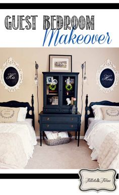 TIDBITS & TWINE: Guest Bedroom Makeover Reveal. Photos and list of sources available at: http://tidbitsandtwine.com/guest-room-makeover-reveal/
