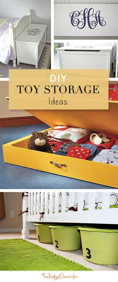 DIY Toy Storage • Lots of Ideas & Tutorials!