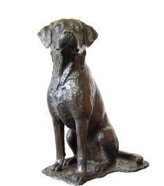 Bronze Dog sculpture by artist JOEL Walker titled: 'Great Loyalty (bronze Labrador Dog sculptures)'