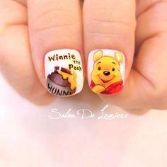 Disney Acrylic Nails, Disney Nails, 3d Nail Designs, Nail Polish Designs, Finger, Nail Art For Kids, Sculptured Nails, American Nails, Animal Nail Art