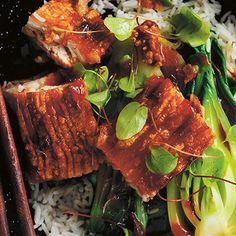 Try this Pork Belly Rice Bowls with Chilli Caramel Sauce recipe by Chef Donna Hay. This recipe is from the show Donna Hay: Basics To Brilliance.