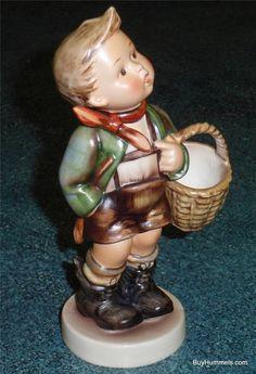 "1950s Village Boy Goebel Hummel LARGE Figurine #51/0 TMK2 FULL BEE 6-3/4"" Tall"