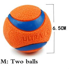 HOOPET Pet Dog Rubber Pinball Two Balls And A Ball Packing Orange Rubber Resistance To Bite Molars Toys Pet Supplies