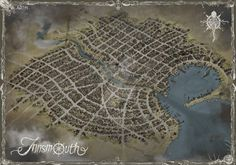 Innsmouth map - print ready by qpiii on DeviantArt Call Of Cthulhu, Cartography, City Photo, Deviantart, Drawings, Maps, Rpg, Cards, Sketches