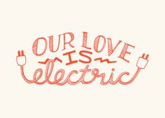 Our Love is Electric  5x7 Valentine Print van ellolovey op Etsy, $12.00
