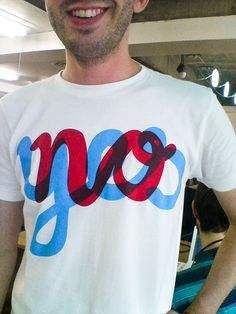"""""""No/yes"""" tee"""