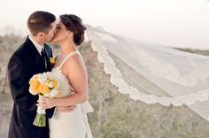 Love the veil flowing like this!  Tell my photographer!