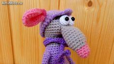 Amigurumi Doll Pattern, Crochet Hats, Free Crochet, Doll Patterns, Crochet Patterns, Character, Youtube, Computer Mouse, Knitting Hats