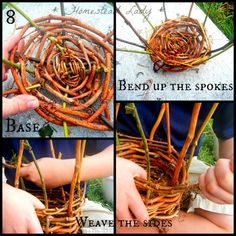 Make Your Own Plant Pots l Step 8 is when it starts to look like a pot or basket I promise l Homestead Lady