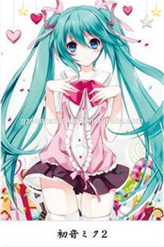 Home Decor Japanese Anime Wall Scroll Poster Vocaloid Miku Hatsune, View Miku Hatsune , Product Details from Guangzhou Donna Fashion Accessory Co., Ltd. on Alibaba.com
