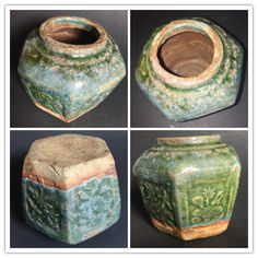 Chinese ginger jar with green glaze.