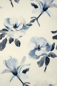 Magnolia China Blue by Mokum