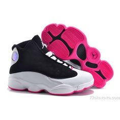 Kid's Air Jordan 13 Anti Fur Black White at KicksVovo.com