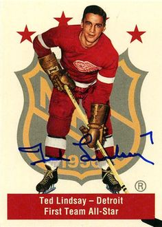 Ted Lindsay, Red Wings Hockey, Hockey Cards, Detroit Red Wings, Historical Pictures, One Team, Nhl, Captain America, All Star