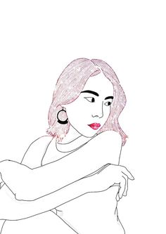 Discover the coolest #madewithpicsart #digitalsketch #lovethis #outline #outlineart #outlinesketch #pink #sparkle #glitter #hair #haironpoint #myedit #digitalar