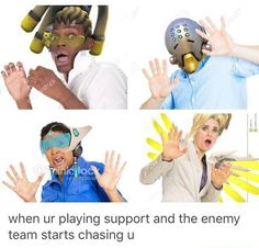 Overwatch Memes - when you're playing support and the enemy team starts chasing you | lucio, zenyetta, symmetra, mercy | overwatch humor funny meme #overwatchMeme