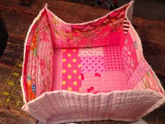 Lined Fabric Basket Tutorial