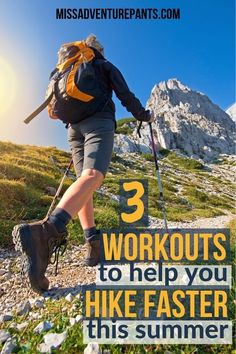 These hiking workouts will help you to get in shape for your summer adventures. Check out this article to learn the best exercises to build hiking speed and stamina. Hiking Tips, Camping And Hiking, Hiking Gear, Hiking Backpack, Hiking Checklist, Winter Camping, Workout Days, Workout Warm Up, Hard Workout