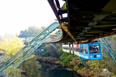 to have a ride on the Wuppertaler Schwebebahn (Germany) along the river Wupper