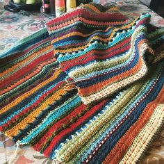 Slowly but surely the blanket grows #imadethis #crochetaddict #ilovetocrochet #crochetblanket by heatheracollin