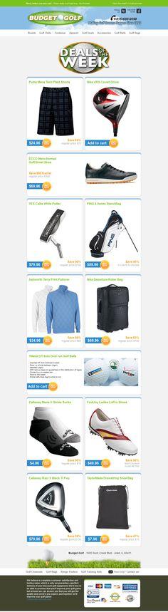 BudgetGolf.com - Subject line: BudgetGolf.com Deals of the Week - July 30, 2013