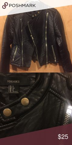 Leather Jacket size Small Leather jacket size Small, from Forever 21. Worn plenty of times but still in good condition. Forever 21 Jackets & Coats