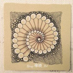 Tile by Damy Teng, using her Tangle Pattern: Salo.
