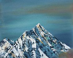 Everest mountain original oil painting, White mountain oil painting, Mountain in clouds oil painting, Himalaya landscape oil painting Everest Mountain, Oil Paintings, Original Paintings, Horse Portrait, Mountain Landscape, Landscapes, Weather, Art Prints, Gallery