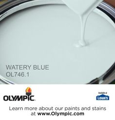 WATERY BLUE OL746.1 is a part of the aquas collection by Olympic® Paint.