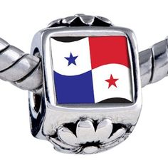 Pugster Bead Panama Flag Beads Fits Pandora Bracelet Pugster. $12.49. Fit Pandora, Biagi, and Chamilia Charm Bead Bracelets. Hole size is approximately 4.8 to 5mm. It's the photo on the flower charm. Unthreaded European story bracelet design. Bracelet sold separately