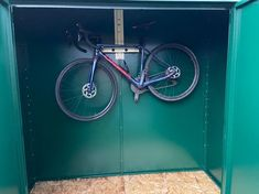 'Hey Guys, sharing a few pictures of our wonderful Asgard Storage unit. It was very easy to assemble and now gives us piece of mind having our bikes locked up securely. It looks great, the bikes are safe....we're very happy. Thank you 🙏🏼 Sam' Garden Bike Storage, Bike Shed, Guys, Metal, Happy, Pictures, Design, Photos, Indoor Bike Storage