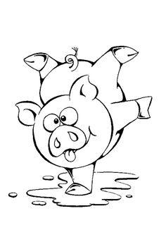 afbeeldingsresultaat voor roze varken carnaval icon - Colouring In Pictures For Children