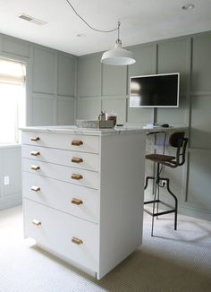Creating Your Home Office Using Ikea Sektion Kitchen Cabinets – Semihandmade Craft Room Office, Built In Desk, House Design, Home, Ikea, Laundry Room Design, Office Inspiration Workspaces, Office, Work Office Decor
