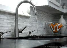 white glass marble cabinet countertop backsplash tile