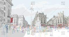 Artist: Rupert Van Wyk stock images from Offset. Authentic photography and illustrations by award-winning artists. Gcse Art Sketchbook, Urban Sketchers, Environmental Art, Design Crafts, Architecture Art, Line Art, Paris Skyline, Sketches, Stock Photos