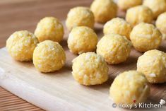 Mini Cheese Balls - Mix well until mixture holds together and shape into small balls.