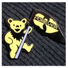 Foreve Grateful Dead Wu Tang Clan Dancing Bear by JeminisBazaar, $20.00