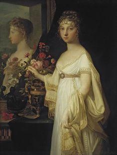 1802 Elisabeth Alexeievna by Jean-Laurent Mosnier (location unknown to gogm) | Grand Ladies | gogm